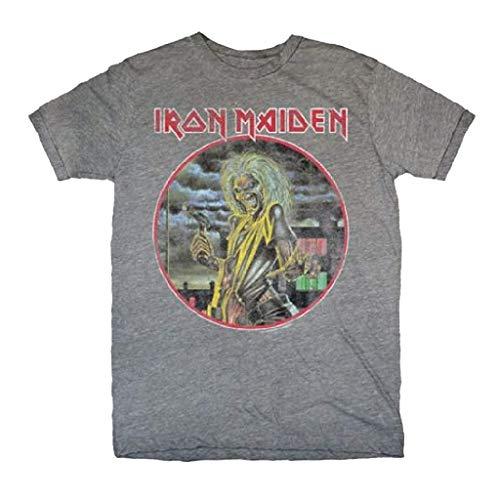 Rock Off Iron Maiden Killers Soft Slim Fit Grey T-Shirt, Gray, Medium