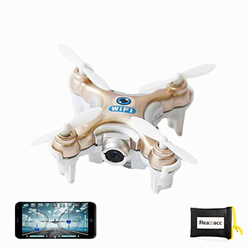 Cheerson CX-10W CX10W Mini Wifi FPV With 720P Camera 2.4G 4CH 6 Axis Mobile Control LED RC Quadcopter (Golden) by...
