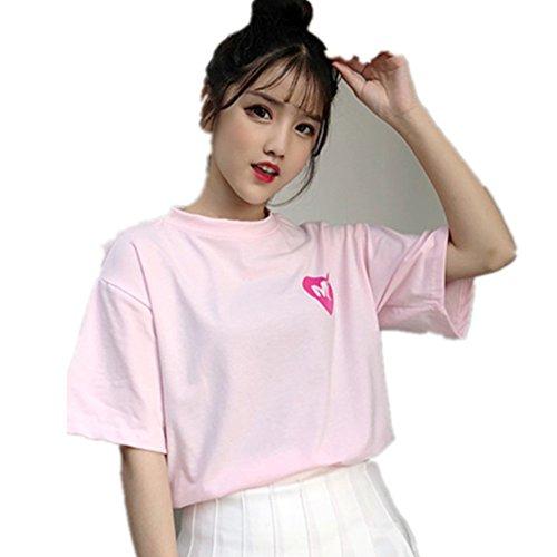 Fairy Xxl T-shirt - HaoKe Women Girls Japanese Kawaii Strawberry Milk Box Graphic T-Shirt Fairy Kei Short Sleeve Pink Gift (XXL, Pink)