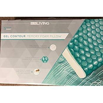 Amazon Com Lux Living Gel Contour Memory Foam Pillow
