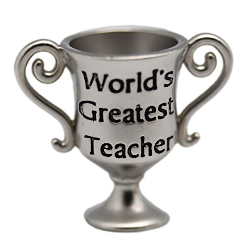 Decorative Goods World's Greatest Teacher Award Silver Colored Mini Trophy - by Ganz