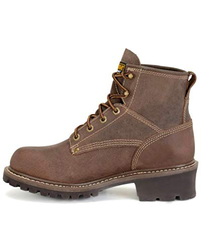 Toe EE Logger 13 Dark Round Brown Men's Work Carolina Waterproof Boot q4ZYwOv