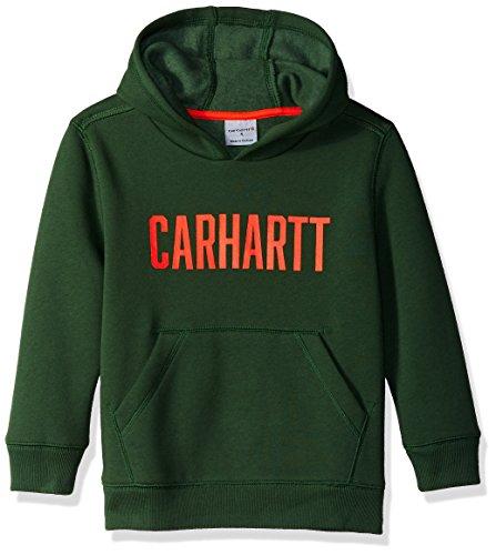 - Carhartt Boys' Big Long Sleeve Sweatshirt, Forest Green, L-14/16