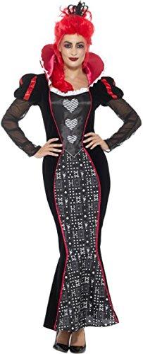 Deluxe Baroque Dark Queen Costume Red Small Uk Dress 8-10