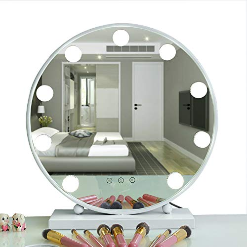AIMEE-JL Lighted Makeup Mirror Hollywood Style Vanity Mirror Cosmetic Mirror Large Tabletop -