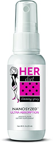 Her Diet Ultra Absorption Slimming Spray Weight Loss Dietary Supplement for Women (Mocha Flavor, 1 Month Supply)