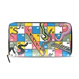 Womens Wallets Board Games Leather Passport Wallet Change Purse Zip Handbags