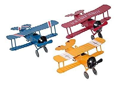 Ceeyali Vintage Wrought Iron Metal Plane Aircraft Models Handicraft for Photo Props/Christmas/Kids Toy/Home Decor/Ornament/Desktop Decoration Pack of 3