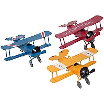 Ceeyali Vintage Wrought Iron Metal Plane Aircraft Models Handicraft For Photo Props Christmas Kids Toy Home Decor Ornament Desktop Decoration Pack Of 3