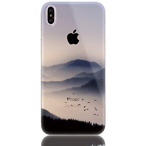 Sunroyal 3D TPU Funda iPhone X/iPhone10 5.8  Para Ligera y Delgada Silicona Suave Gel Funda Protectora Para Teléfono Móvil Casual Premium de Goma Antichoque Protector de La Piel Flexible Para el Cubi Diseño 14