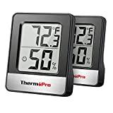 ThermoPro TP49 2 Pieces Digital Hygrometer Indoor