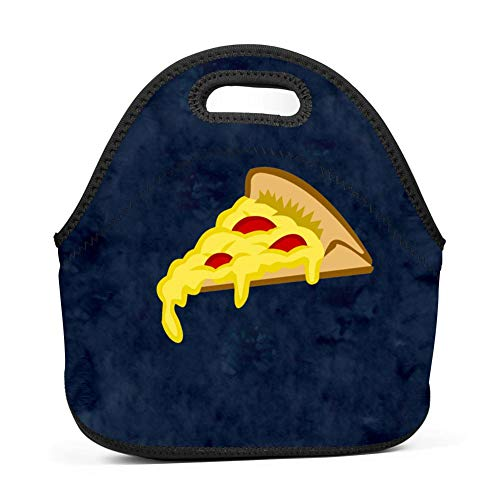 Lunch Bag Food Box Portable Carry Storage Tote Picnic Handbag for School Work Office Print Pizza Yolk for $<!--$19.98-->