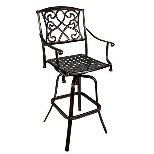 Wilshire Rotating Cast Aluminum Outdoor Chair/Bar ()