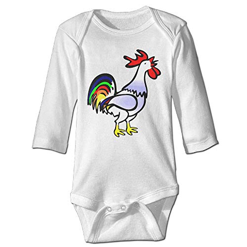 Rooster Clipart - CXJPNHGFWS Cute Baby Boys Girls Rooster Clipart Long Sleeve Romper 100% Cotton Baby Underwear