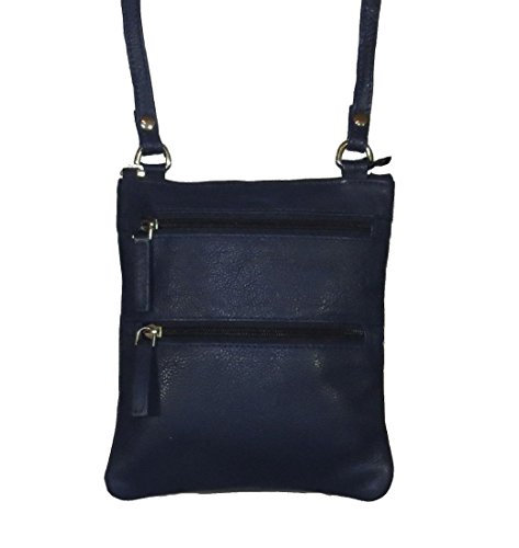 Handbag Genuine Pielino 131 Leather Crossbody Blue Mini qUPPwIxHT