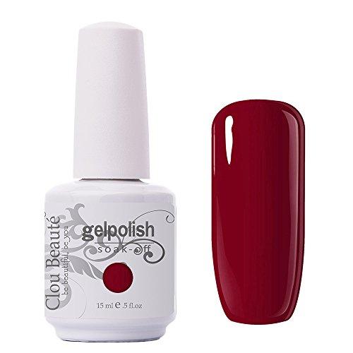 Clou Beaute Gelpolish 15ml Soak Off UV Led Gel Polish Lacquer Nail Art Manicure Varnish Color Wine Red 1447