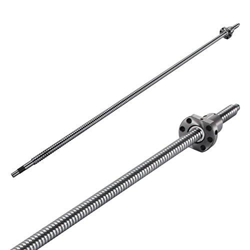 Mophorn SFU1605-1000mm Ballscrew Antibacklash 1605 Ball Screws 1 Set BK/BF12 and 1 PCS Couplers for CNC Route Grinding Machine