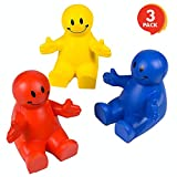 "ArtCreativity 4"" Squeezable Smiley Phone Holder Set (3 Pack) 