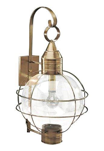 Brass Traditions 601-1-OPT-DB Extra Large Onion Wall Lantern One Light Optic Globe, Dark Brass Finish One Light Optic Globe Extra Onion Wall Lantern ()