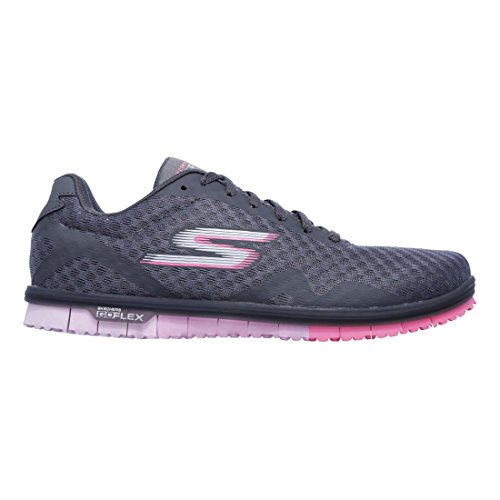 Pink Top Charcoal Donna Skechers Low nPOqWII8