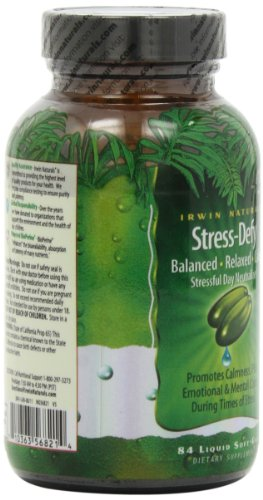 Irwin Naturals Stress-Defy, Balanced Relaxed Calm, Stressful Day Neutralizer, 84 Liquid Softgels by Irwin Naturals (Image #7)'