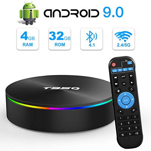 Android TV Box, YAGALA T95Q Android 9.0 TV Box 4GB RAM 32GB ROM Amlogic S905X2 Quad-core Cortex-A53 Bluetooth 4.1 HDMI 2…