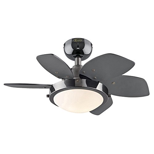 Westinghouse 7224300 Quince 24-Inch Gun Metal Indoor Ceiling Fan, Light Kit with Opal Frosted Glass by Westinghouse Lighting (Image #5)