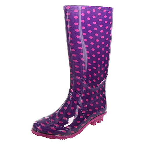 Pictures of Rugged Outback Purple Pinkdots Girls' Rain Boot 174111040 1