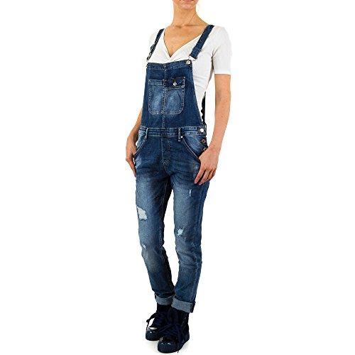 Destroyed Latz Jeans Für Damen , Blau In Gr. M bei Ital-Design