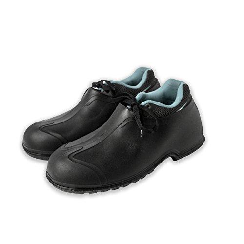 "UltraSource 440095-M PVC Overshoes, 4"", Black, Size Medium (8-9) - Image 2"