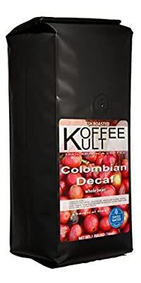 Koffee Kult - Colombian Decaf Coffee- SWP Whole Bean - Swiss Water Decaf Coffee