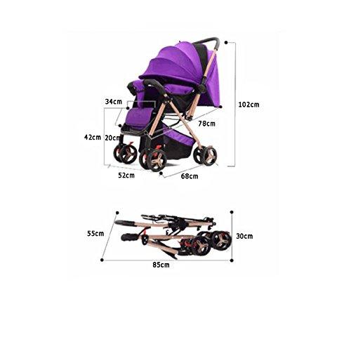 Tzq Plegable Bidireccional Bebés Mano Carrito Asiento Cochecito Niño Ligero F Para De Bebé Infantil rwqSXw5Hn