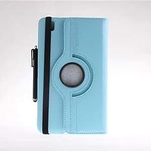 Conseguir Caso de cuero rotativo con el soporte y la pluma del tacto para Samsung Galaxy Tab 8.4 Pro T320 (colores surtidos) , Azul claro