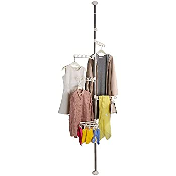 Amazon Com Baoyouni 4 Tier Standing Clothes Laundry