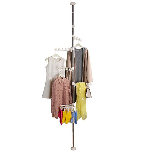 Baoyouni 4-Tier Standing Clothes Laundry Drying Rack Grament