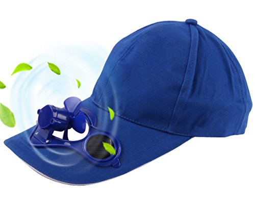 Arsmt Solar Powered Fan Cooling Solar Panel on the Cap Front Baseball Hat (Solar Fan Cap Cooling)
