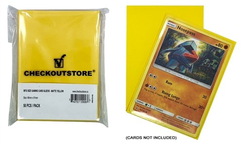 CheckOutStore 10,000 Matte Yellow Protective Sleeves for Trading Cards (66 x 91 mm)