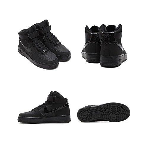 Nike AIR Force 1 HIGH (GS) Black/Black-Black by Nike (Image #2)