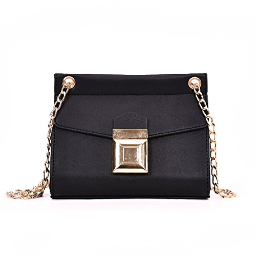 Lock Noir coloré Petit Noir carré Fashion chaîne ZHRUI chaîne Sac Hnq05zxvw