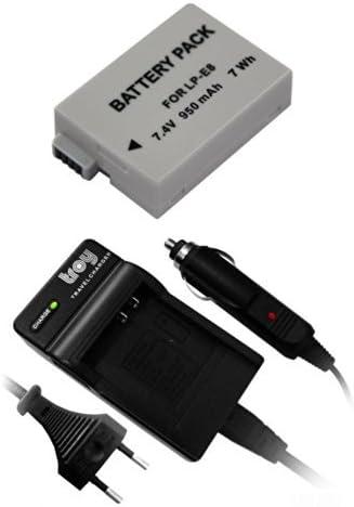 Troy Batería + Cargador para Canon LP-E8 Adecuado para Canon EOS 550d, EOS 600d, EOS 650d, EOS 700d: Amazon.es: Electrónica
