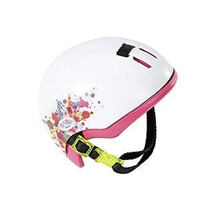 Zapf Creation Le casque de vélo Play&Fun accessoires pour poupée, blanc/rose vif 2