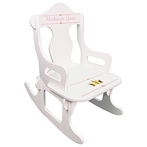 Personalized Pink Princess Crown Puzzle Rocker (Pink Rocker Princess)