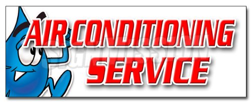 "36"" AIR CONDITIONING SERVICE DECAL sticker ac cooling technician air cold maintenance"