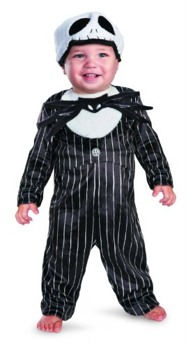 [Disguise Costumes Jack Skellington Prestige Infant Costume, Black/White, 6-12 Months] (Jack White Halloween Costume)