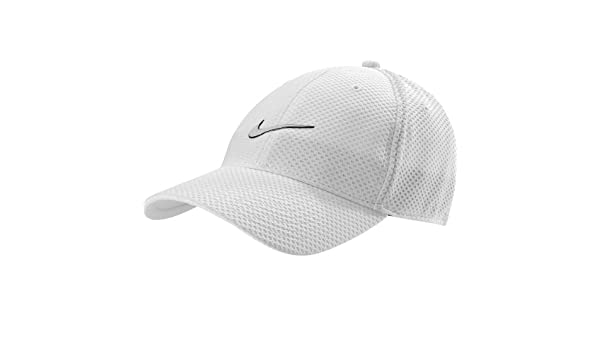 Mens Nike Heritage Dri-Fit Mesh Adjustable Hat White Black 480387 ... 47eb5422aea8