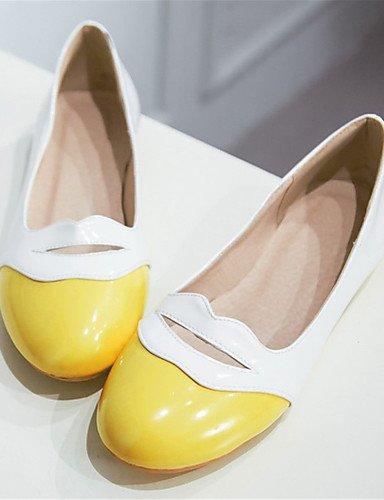 Flats mujer y cn35 negro oficina rosa amarillo de eu36 plano 5 vestido carrera comodidad us5 PDX zapatos pink uk3 de charol 5 casual talón wvt86qg