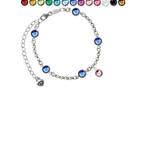 Crystal Light Pink Channel Drop Custom Crystal Color Fiona Charm Bracelet