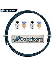 Capricorn XS Series Teflon Tube Bowden PTFE Tubing (1 Meter) with 2Pcs PC4-M6 and 2Pcs PC4-M10 Fittings for Creality Ender 3/Pro Ender 5 CR-10/10S 3D Printer 1.75mm Filament