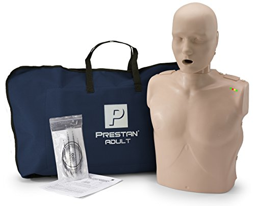 PRESTAN PP-AM-100M-MS Professional Adult CPR-AED Training Manikin with CPR Monitor, Medium Skin
