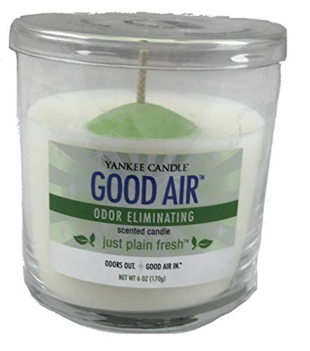 Yankee Candle Just Plain Fresh Good Air Odor Eliminating Small Single Wick Tumbler Candle ()